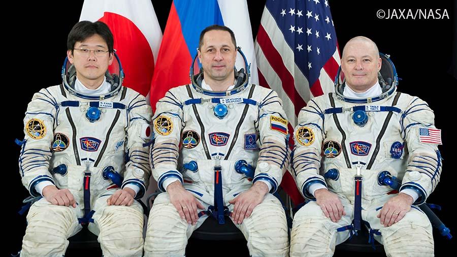 今回打ち上げられたソユーズ宇宙船に搭乗する金井飛行士ら第54次/第55次ISS長期滞在クルー