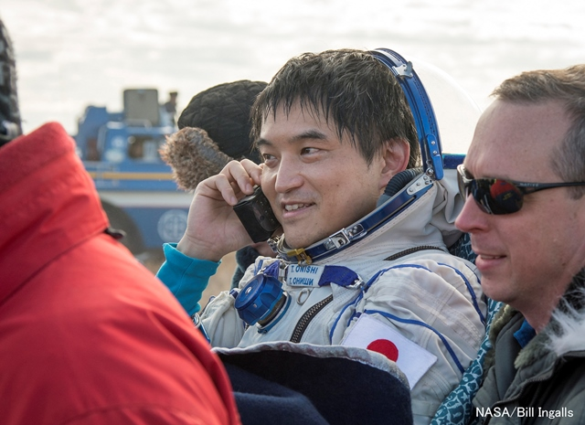 MEXT Minister Discourse on the Return of the Soyuz Spacecraft (47S) with Astronaut Takuya Onishi aboard (Oct. 30, 2016)